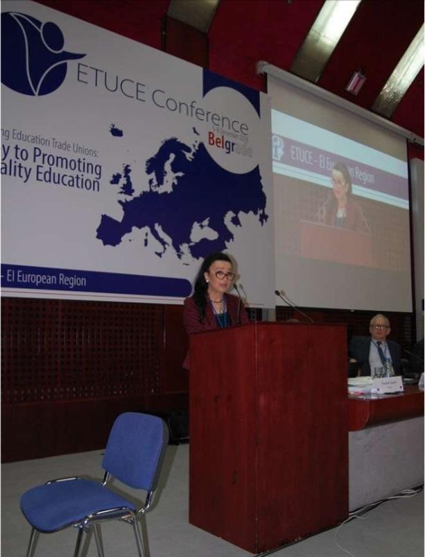 Valentina na konferenciji ETUCE u Beogradu